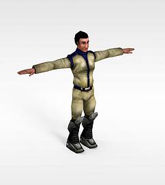 旧风格游戏角色3d模型