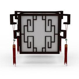中式灯模型