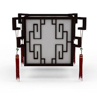 中式灯3d模型