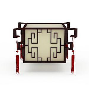 复古中式灯具模型
