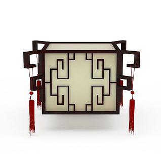 复古中式灯具3d模型