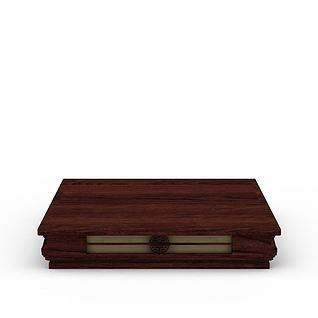 木质吸顶灯3d模型