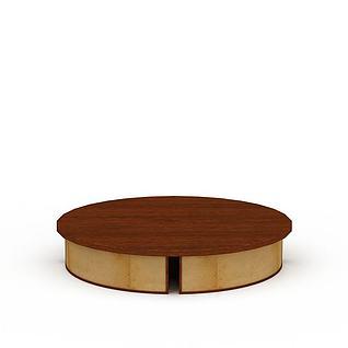 圆形木质吸顶灯3d模型
