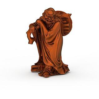 铜制雕像3d模型