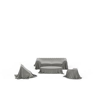 沙发盖布3d模型