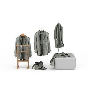 商场衣服架模型