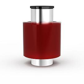 红色吸顶灯模型