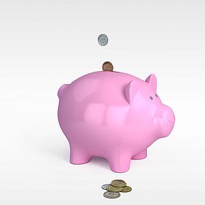 小猪存钱罐模型3d模型