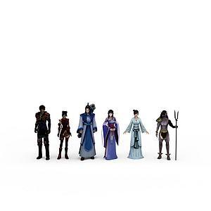 仙劍四全套主角人物模型