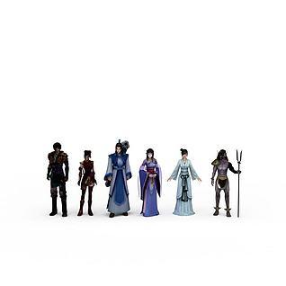 仙剑四全套主角人物模型3d模型