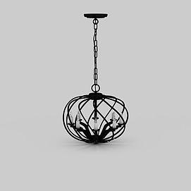 铁艺吊灯模型