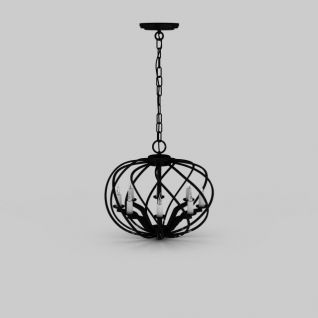 铁艺吊灯3d模型