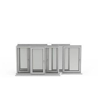 塑钢窗3d模型