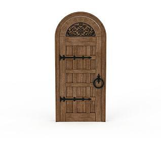 拱形木门3d模型