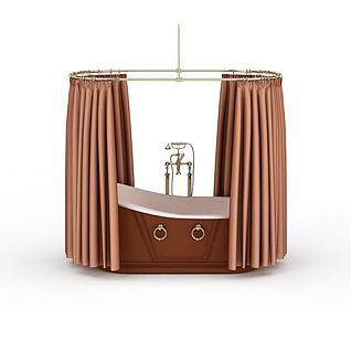 泡澡浴缸3d模型