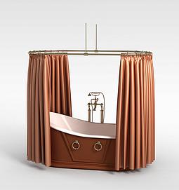 泡澡浴缸模型