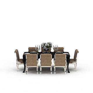 餐桌<font class='myIsRed'>餐椅</font>3d模型