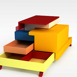 3d儿童变形感家具模型
