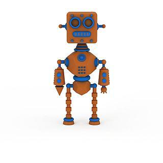 儿童<font class='myIsRed'>机器人</font>玩具3d模型