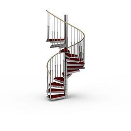 复式楼梯模型