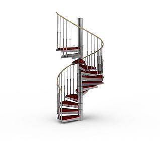 复式楼梯3d模型