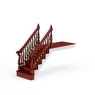 现代简约楼梯3d模型