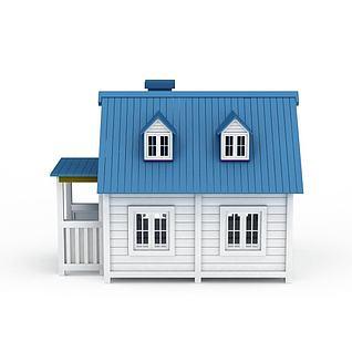 户外小木屋3d模型