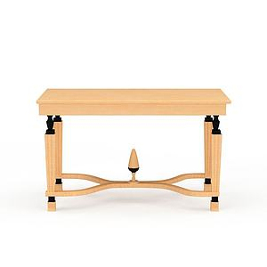 木?#24335;?#21449;桌子3d模型