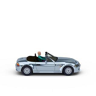 高精跑车模型3d模型