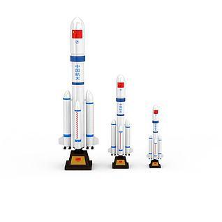 火箭3d模型