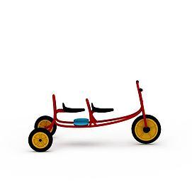 3d双人小骑车模型