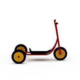 3d儿童踏滑车模型