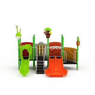 娱乐滑梯3d模型