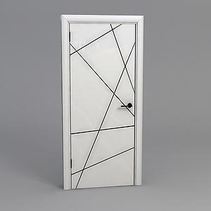臥室木門模型