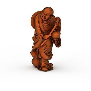 弥佛雕像3d模型