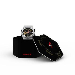 运动手表3d模型