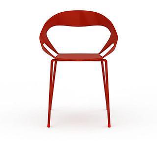 红色<font class='myIsRed'>餐椅</font>3d模型