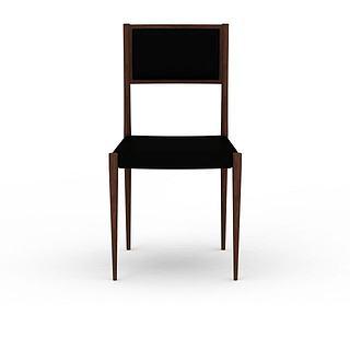 黑色<font class='myIsRed'>餐椅</font>3d模型