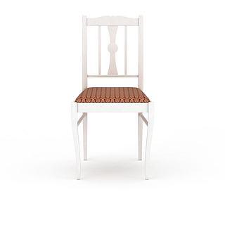 白色<font class='myIsRed'>餐椅</font>3d模型