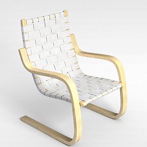 3d休闲编织椅模型