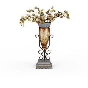 花卉摆件模型3d模型