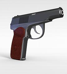 小手枪模型3d模型
