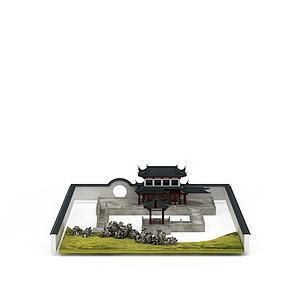 古代建筑群模型3d模型