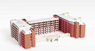 3d学校教学楼模型