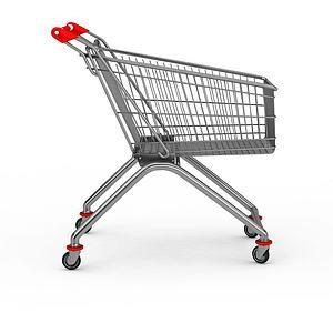 超市手推车模型