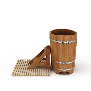 浴桶3d模型