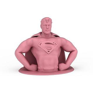 炫酷超人半身3d模型