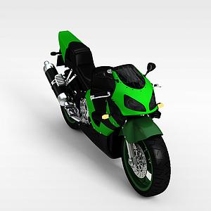 绿色摩托车模型