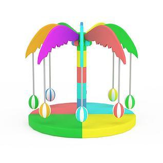 椰树玩具3d模型