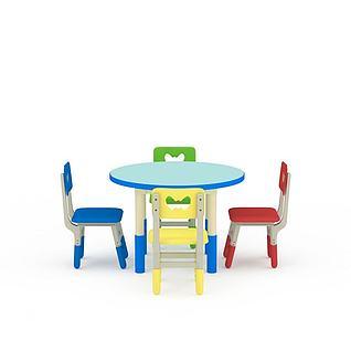 儿童桌椅3d模型